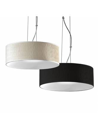 ILUSORIA Creu 3L E27 fabric pendant lamp