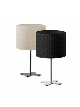 ILUSORIA Creu 1L E27 fabric floor lamp