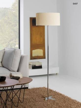 ILUSORIA Creu E27 wavy fabric floor lamp