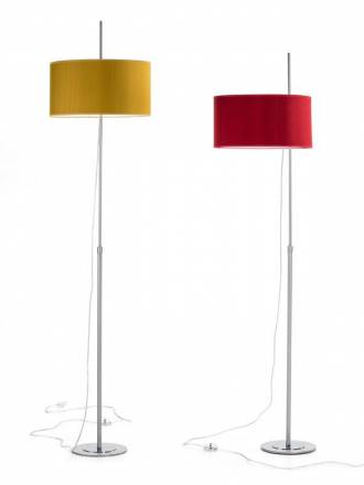 ILUSORIA Telescopic E27 fabric floor lamp