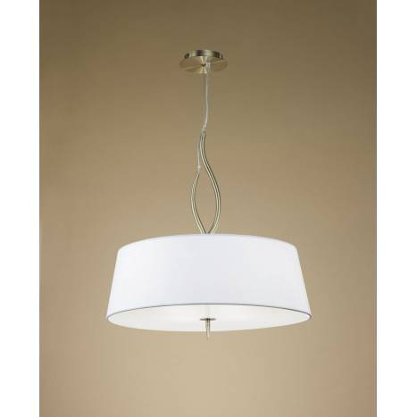 Mantra Ninette pendant lamp 4L E27 leather white lampshade