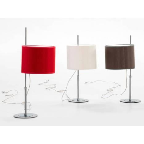 ILUSORIA Telescopic E27 fabric table lamp