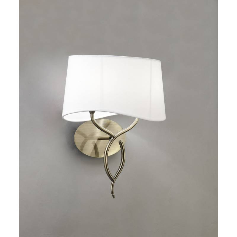 Mantra Ninette wall lamp 2L E14 leather white lampshade