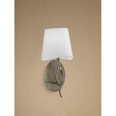 Mantra Ninette wall lamp 1L E14 leather white lampshade