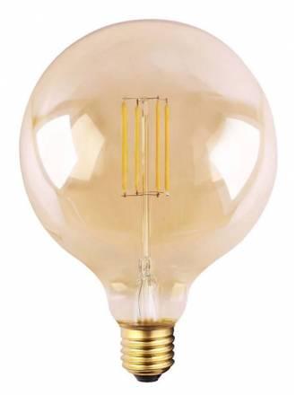 Bombilla LED 6.5w E27 G125 Ambar - Mantra