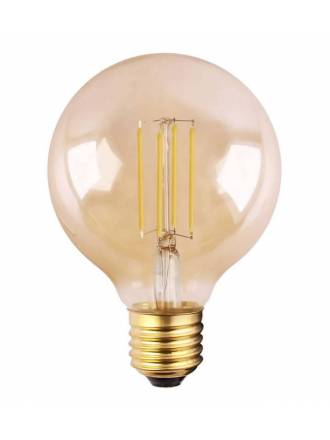 MANTRA Amber G95 LED E27 bulb 6.5w