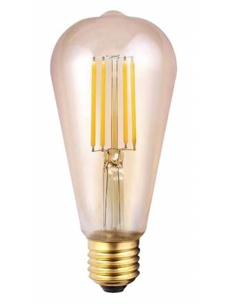 Bombilla LED 6.5w E27 ST64 Ambar - Mantra