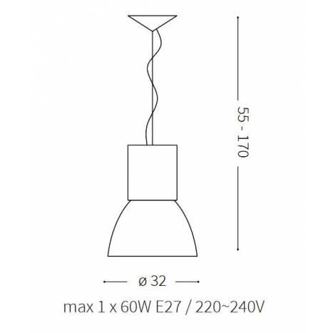 Lámpara colgante Hangar SP1 E27 - Ideal Lux