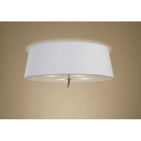 Mantra Ninette ceiling lamp 4L white lampshade leather