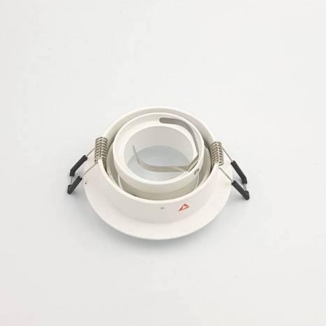 BPM Titan round recessed light white aluminium