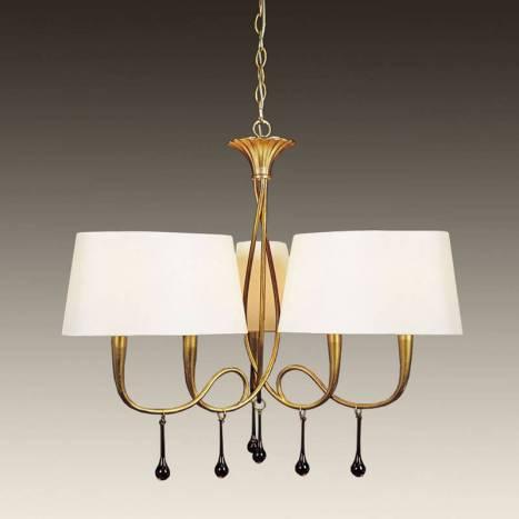 Mantra Paola pendant lamp 3 arms 6L gold