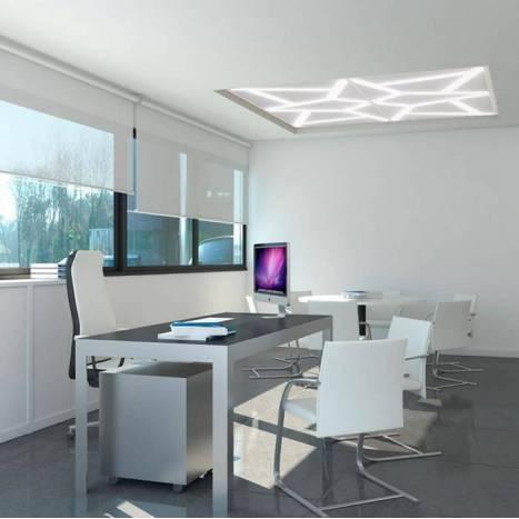 Panel de techo Stripes LED blanco de Ole