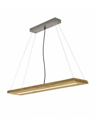 Lámpara colgante Brad LED 27w madera - Trio