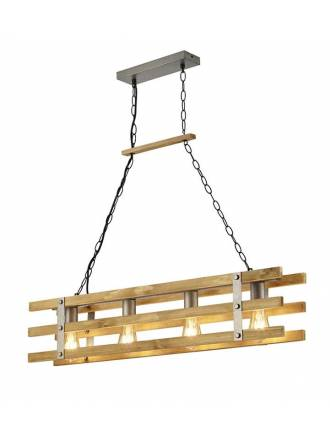 TRIO Khan 4L E27 ceiling lamp wood