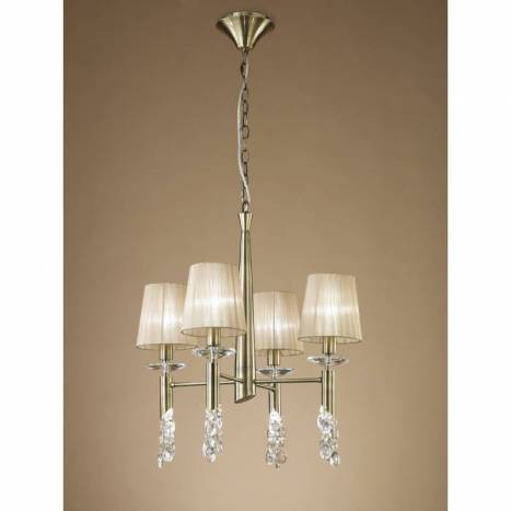 Mantra Tiffany pendant lamp 4L chrome