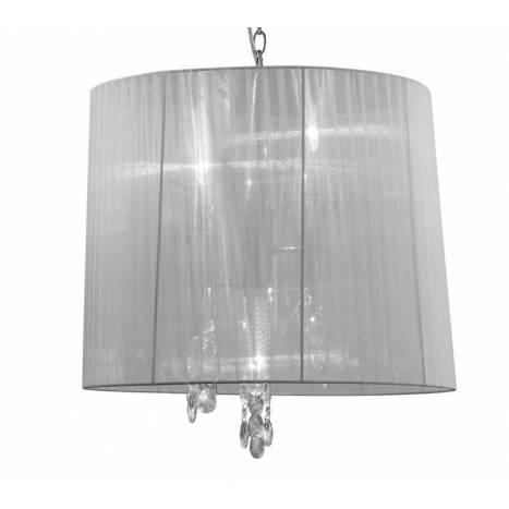 Lampara colgante Tiffany 1 pantalla 50cm cromo de Mantra