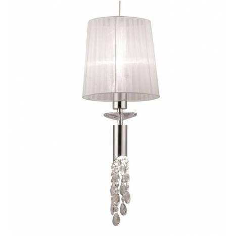 Mantra Tiffany pendant lamp 23cm chrome