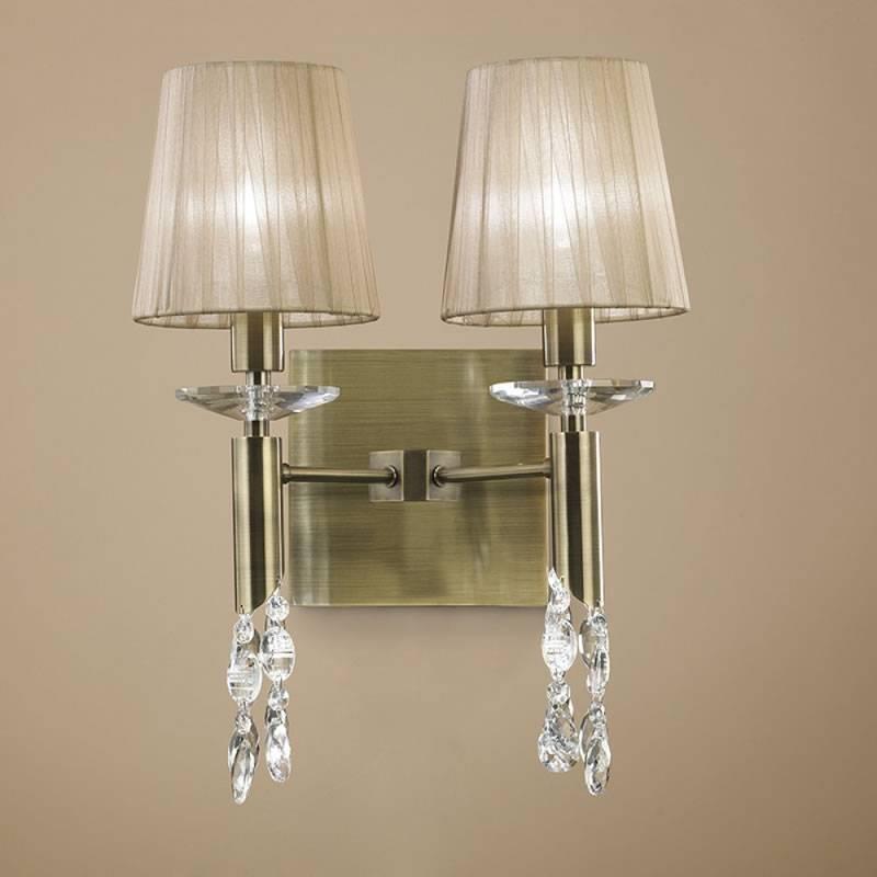 Mantra Tiffany wall lamp 2 lampshade chrome