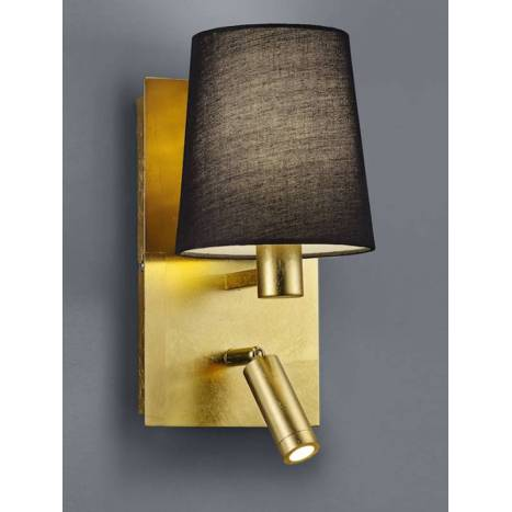 TRIO Marriot wall lamp E14 + LED gold