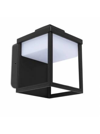 Aplique de pared Zoe LED IP54 negro - Lutec