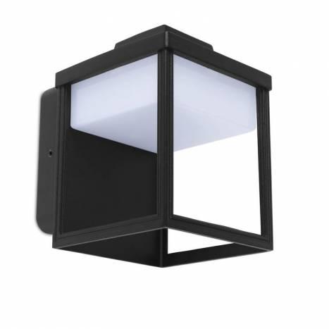 Aplique de pared Zoe LED IP54 negro - Lutec