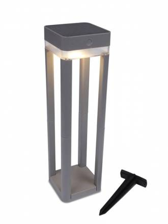 LUTEC Table Cube Solar LED IP44 beacon lamp