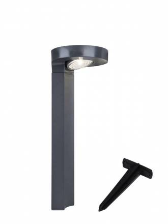 LUTEC Diso Solar LED IP44 beacon lamp