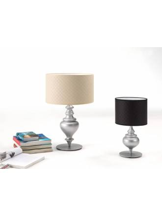 ILUSORIA Rombo Píccolo leatherette table lamp