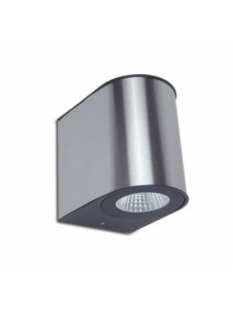 LUTEC Gemini steel LED IP54 wall lamp