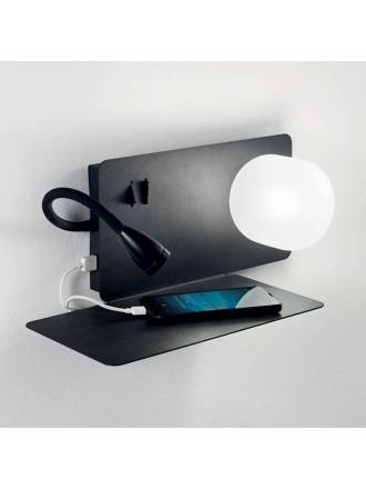 IDEAL LUX Book LED USB white wall lamp