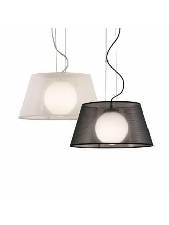 Lámpara colgante Zurich 1L tela - Ilusoria