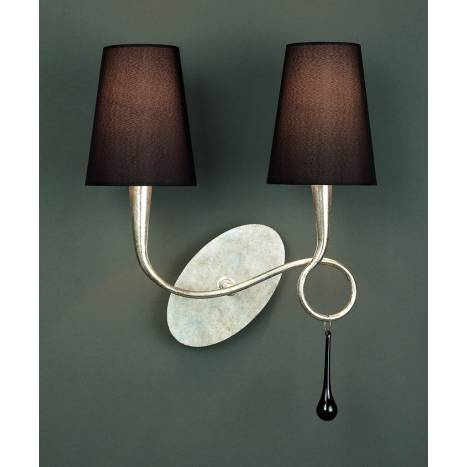 Mantra Paola wall lamp 2 arms silver