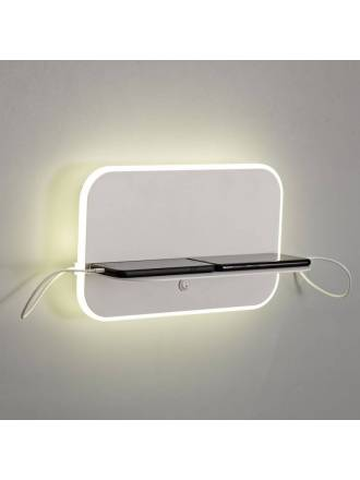 MANTRA Lanzarote LED + USB wall lamp