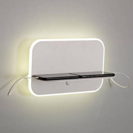 Aplique de pared Lanzarote LED + USB - Mantra