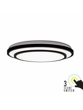 KELEKTRON Mimas Black 72w LED ceiling lamp