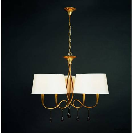 Mantra Paola pendant lamp 3 arms 6L gold