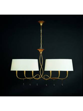 Mantra Paola pendant lamp 2 arms 6L gold