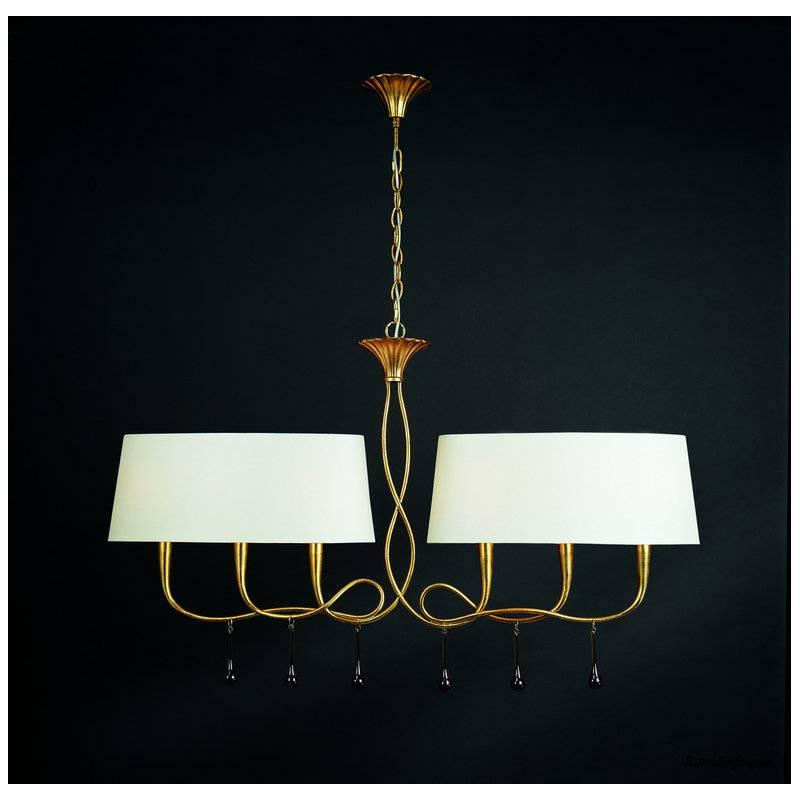 Mantra Paola pendant lamp 2 arms 6L gold