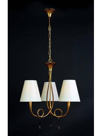 Mantra Paola pendant lamp 3L gold