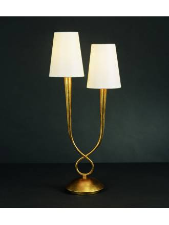 Mantra Paola table lamp 2L gold