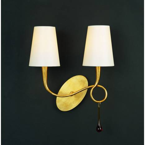Mantra Paola wall lamp 2 arms 2L gold
