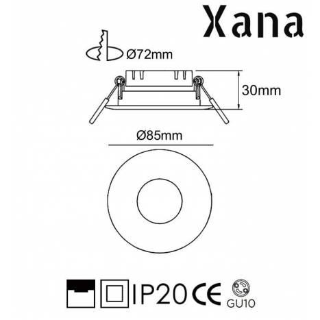 Foco empotrable Arnau GU10 - Xana