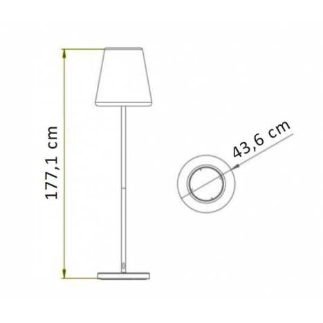 Lámpara de pie Lola Slim 180 LED - Newgarden