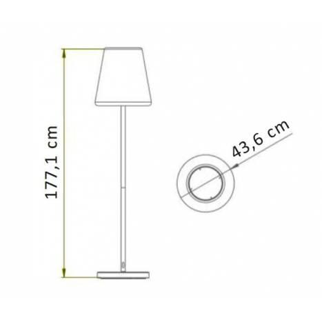 NEWGARDEN Lola Slim 180 LED floor lamp