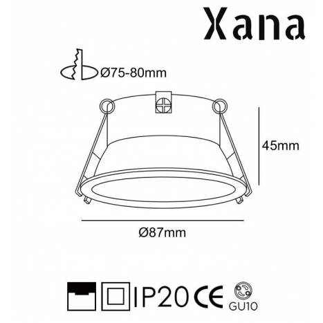 Foco empotrable Bulnes GU10 - Xana
