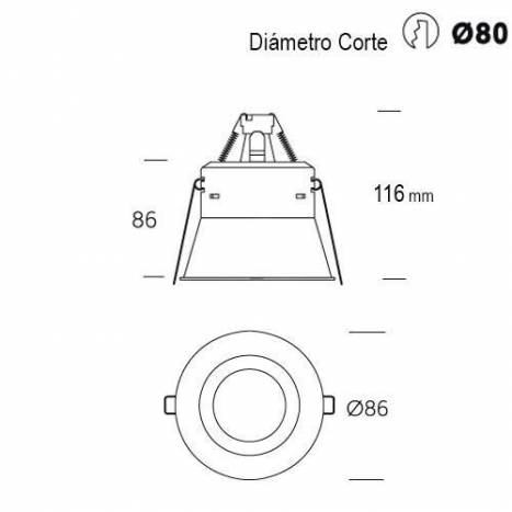 ONOK Vulcano 1.1 GU10 recessed light white