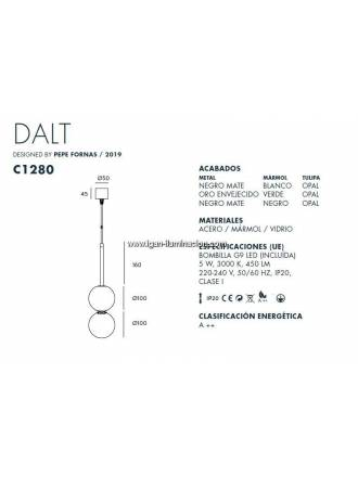 AROMAS Dalt II pendant lamp marble