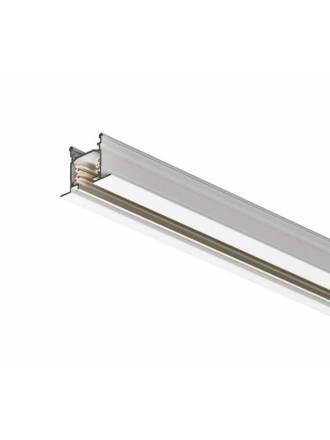 Carril trifasico empot + conector + tapa final blanco