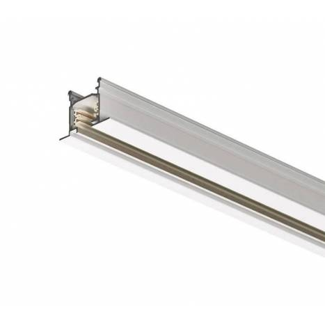 Track rail recessed + connector + end cap white