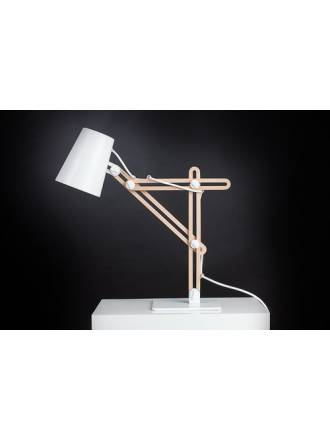 Mantra Looker table lamp white wood
